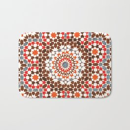 N64 - Traditional Geometric Moroccan Vintage Style Artwork Bath Mat