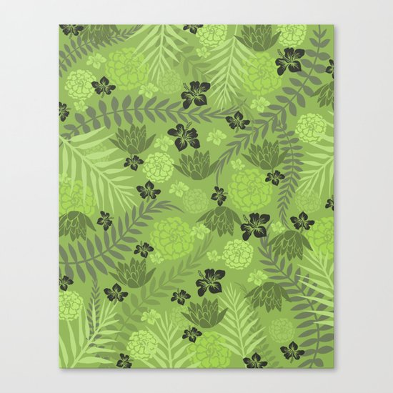 Greenery Floral Canvas Print