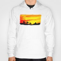 egyptian Hoodies featuring Egyptian supermoon by Pirmin Nohr