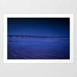 Pier photography night Art Print