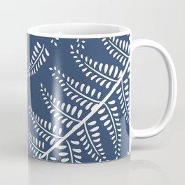 Ferns on Blue Coffee Mug