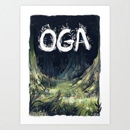 Oga Art Print