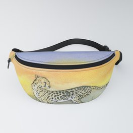 Cheetah in Sunset Fanny Pack
