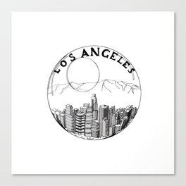 Los Angeles city in a glass ball 2  Home Decor Graphicdesign Canvas Print