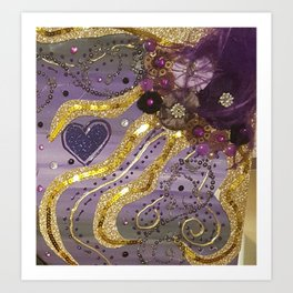 Purple love Art Print
