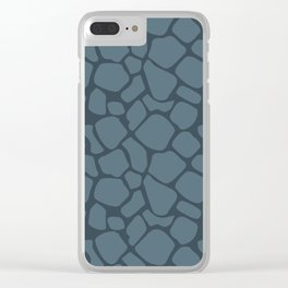 Charcoal Rock Pattern Clear iPhone Case