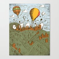 balloons Canvas Prints featuring BALLOONS by Matthew Taylor Wilson