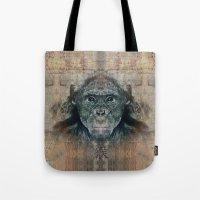 monkey Tote Bags featuring Monkey by Zandonai
