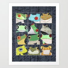 Frogs vertical Art Print