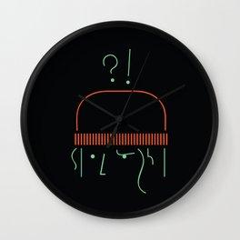 Confused Nawar Wall Clock