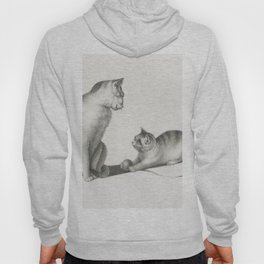 Illustration of two domestic cats playing by Gottfried Mind (1768-1814) Hoody