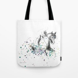 Horse (Rainy canter) Tote Bag
