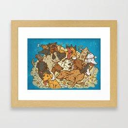 Dog Park Framed Art Print