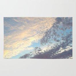 Sunset cloudy sky Rug