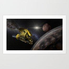 New Horizons space probe - Pluto flyby Art Print