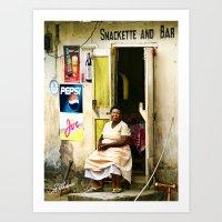 St. Vincent Snack Bar Art Print
