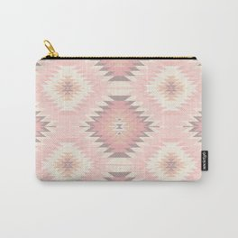 Pastel Pink & Coral Navajo Carry-All Pouch