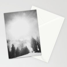 Blowing Snow Stationery Cards