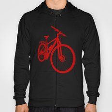 Mountain Bike (Red on Black Variant) Hoody