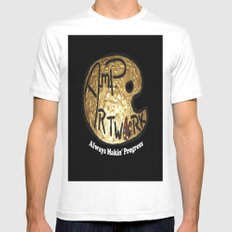 A.M.P. Artwork  SMALL White Mens Fitted Tee
