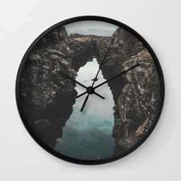 I left my heart in Iceland - landscape photography Wall Clock