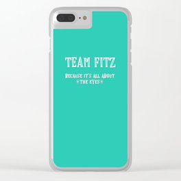 Team Fitz Clear iPhone Case
