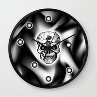 bones Wall Clocks featuring Bones  by Bwilly Bwightt