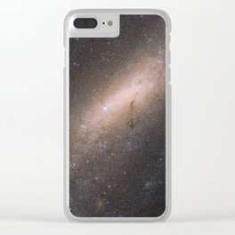Barred Spiral Galaxy IC 5201 Clear iPhone Case