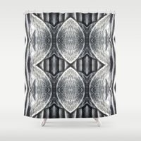 clear Shower Curtains featuring Crystal clear by Gun Alfsdotter