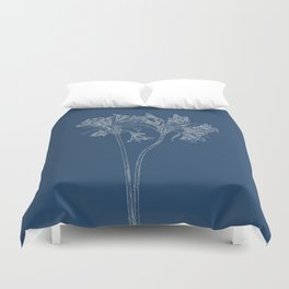 Parrot Lily Blueprint Duvet Cover