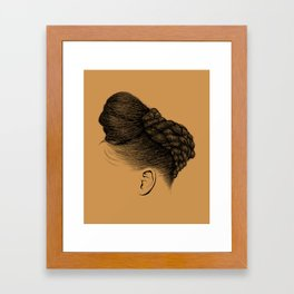 Crown: Twisted Updo with Bun Framed Art Print