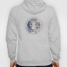 White Tiger with Blue Eyes Hoody