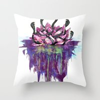 abyss Throw Pillows featuring Abyss by Corbin Kosak