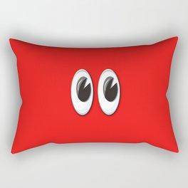 Eyes on the red skin Rectangular Pillow