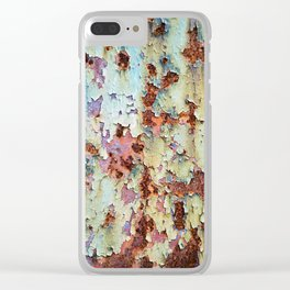 Abstract Paint Clear iPhone Case