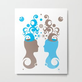 Exchanging Ideas Metal Print