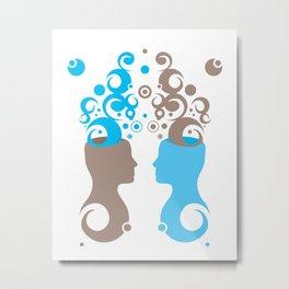 Exchanging Ideas Metal Print