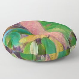 463 - Abstract seasons changing design Floor Pillow