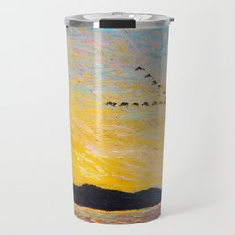 Tom Thomson - Round Lake, Mud Bay  - Canada, Canadian Oil Painting - Group of Seven Travel Mug
