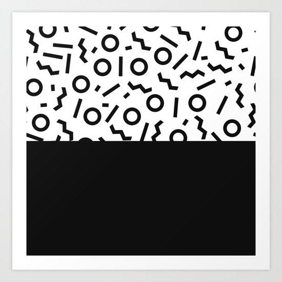 Memphis pattern 42 Art Print