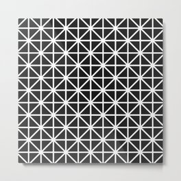 Minimal Black + White Pattern Metal Print