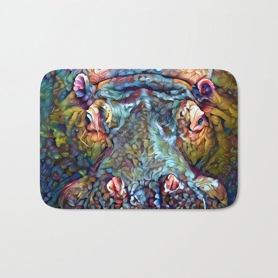 Whimsical Hippo Bath Mat