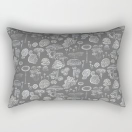 Mycology Grey Rectangular Pillow