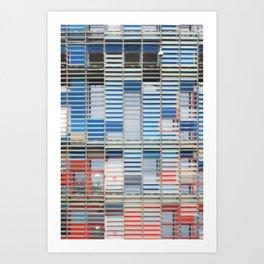 AGBAR Tower Façade by Jean Nouvel Art Print