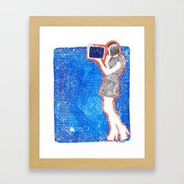 Feelin Blue Framed Art Print