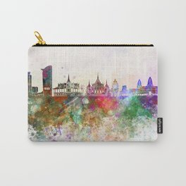 Phnom Penh skyline in watercolor Carry-All Pouch