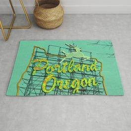 Portland Oregon Old Town Sign Rug
