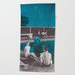 No Diving Beach Towel