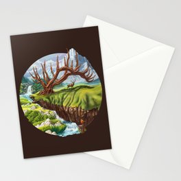 Father Deer Stationery Cards