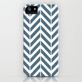 Navy Broken Chevron  iPhone Case